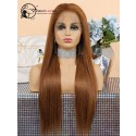 Pre Plucked Brown Color #30 Human Hair Silky Straight 360 Lace Wig [360LW32]