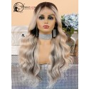 Ombre Blonde Pre Plucked Bleached Knots Body Wave Brazilian Virgin Hair Lace Front Wig [LFW09]