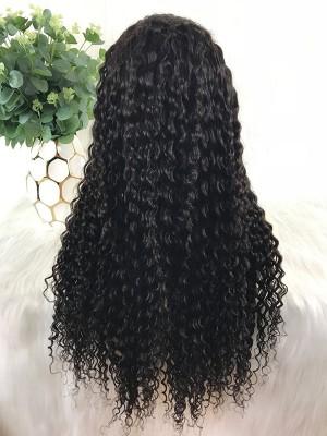 Natural Color Deep Wave Brazilian Virgin Hair 360 Lace Wig[B01]