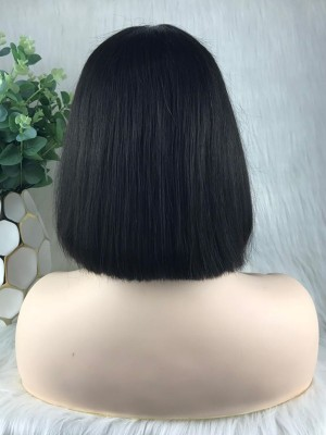 $89 Get This Human Hair Bob Style Lace Front Wig [B03]