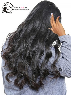 Brazilian Virgin Human Hair Body Wave 360 Lace Wig Pre Plucked Natural Hairline With Baby Hair [360LW30]
