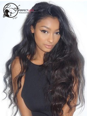 Pre Plucked Wave Indian Virgin Hair 360 Lace Wig For Black Women [360LW18]