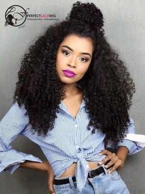 Kinky Curl Brazilian Virgin Hair Full Lace Wigs[FLW03]