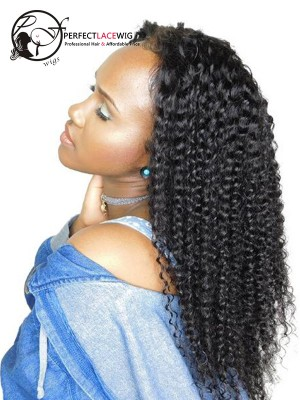 Pre Plucked Kinky Curly Malaysian Virgin Hair 360 Lace Wig [360LW25]