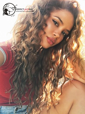 Loose Wave Brown Color Brazilian Virgin Hair 360 Lace Wigs [360LW44]