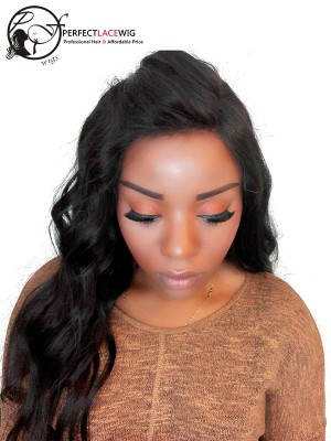 Natural Color Body Wave Brazilian Virgin Hair 360 Lace Frontal Closure[360FW01]