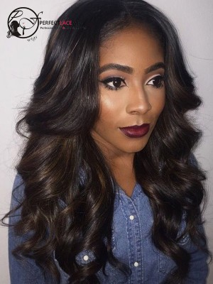 Pre Plucked Body Wave Brazilian Virgin Hair Full Lace Wig [FLW01]