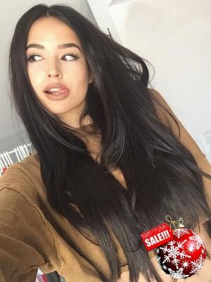 Pre-plucked Brazilian Human Virgin Hair Wigs Silky Straight 360 Lace Wigs [360LW10]