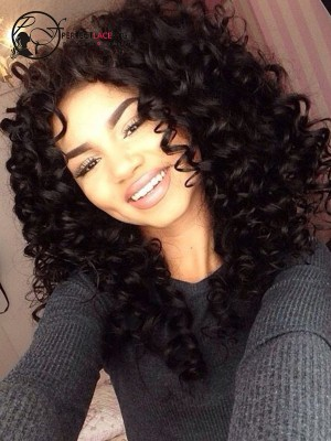 Pre Plucked Spring Wave Brazilian Virgin Hair 360 Lace Wig [360LW12]