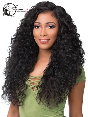 Pre-plucked Loose Curly Brazilian Virgin Hair Full Lace Wig With Baby Hair [FLW10]