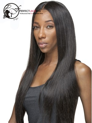Pre Plucked Natural Color Silky Straight Brazilian Virgin Hair 360 Lace Frontal Closure For Black Women[360FW07]