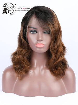 Pre Plucked Ombre Color Body Wave Brazilian Virgin Hair 360 Lace Wig [S03]