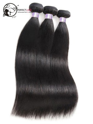 Silk Straight Natural Color Brazilian Hair 9A Hair Weave Bundles 3 Pieces [W01]
