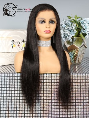 Pre-plucked Fake Scalp Silky Straight Human Hair Full Lace Wig [FSF01]