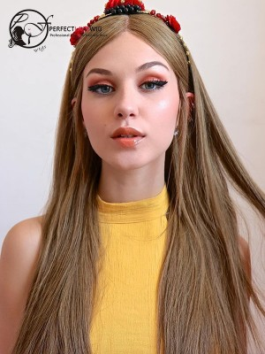 Silky Straight Flaxen Brazilian Virgin Hair 360 Lace Wig [360LW47]