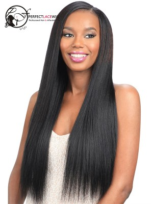 Yaki Straight Brazilian Virgin Hair Full Lace Wigs[FLW05]
