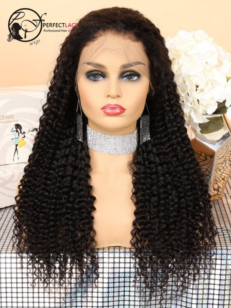 796a685252a Lace Front Human Hair Wigs For Black Women Curly Brazilian Virgin Hair Pre  Plucked With Baby Hair