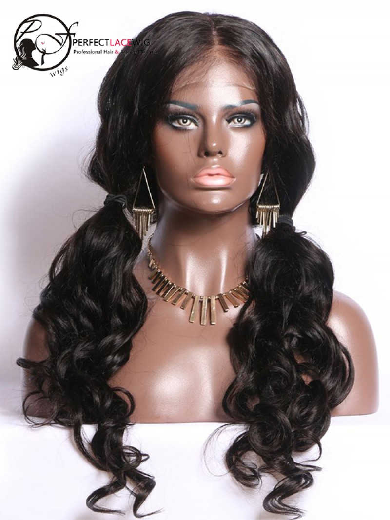 Indian Remy Wave Hair 360 Lace Wigs For Black Women Pre
