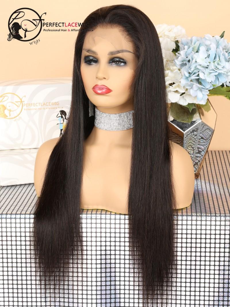 Pre-plucked Brazilian Human Virgin Hair Wigs For Black Womens Silk ... 34bcd9117d